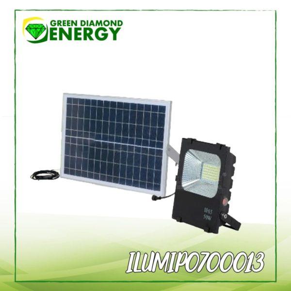 reflector con panel solar para jardín