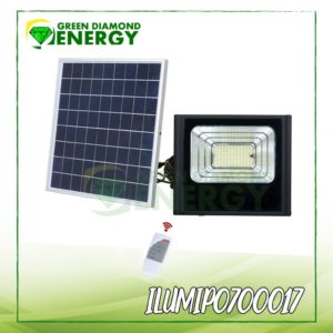 Reflector con panel solar para casa de campo