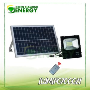 Reflector con panel solar zonas Rurales